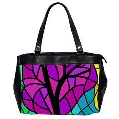 Decorative Tree 2 Office Handbags (2 Sides)  by Valentinaart