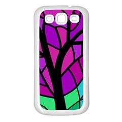 Decorative Tree 2 Samsung Galaxy S3 Back Case (white) by Valentinaart