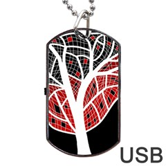 Decorative Tree 3 Dog Tag Usb Flash (two Sides)  by Valentinaart