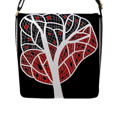 Decorative Tree 3 Flap Messenger Bag (l)  by Valentinaart