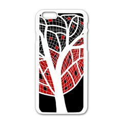Decorative Tree 3 Apple Iphone 6/6s White Enamel Case by Valentinaart