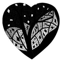 Black And White Tree Jigsaw Puzzle (heart) by Valentinaart