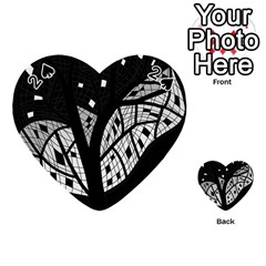 Black And White Tree Playing Cards 54 (heart)  by Valentinaart