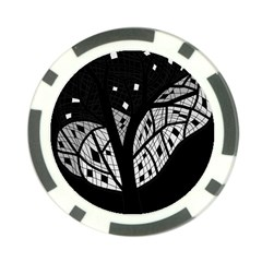 Black And White Tree Poker Chip Card Guards by Valentinaart