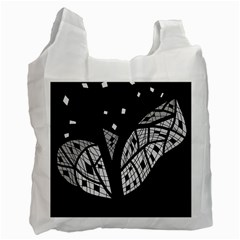 Black And White Tree Recycle Bag (one Side) by Valentinaart