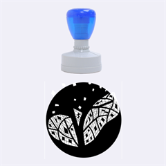 Black And White Tree Rubber Round Stamps (medium) by Valentinaart