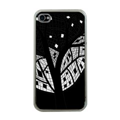 Black And White Tree Apple Iphone 4 Case (clear)