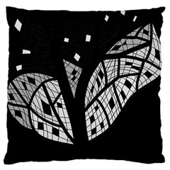Black And White Tree Large Cushion Case (two Sides) by Valentinaart
