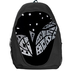 Black And White Tree Backpack Bag by Valentinaart