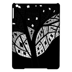 Black And White Tree Ipad Air Hardshell Cases by Valentinaart