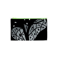 Black And White Tree Cosmetic Bag (xs) by Valentinaart