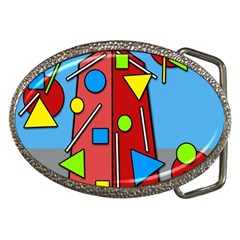 Crazy Building Belt Buckles by Valentinaart