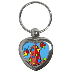 Crazy Building Key Chains (heart)