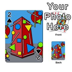 Crazy Building Playing Cards 54 Designs  by Valentinaart