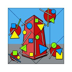 Crazy Building Acrylic Tangram Puzzle (6  X 6 ) by Valentinaart