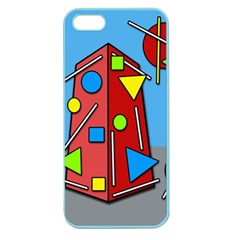 Crazy Building Apple Seamless Iphone 5 Case (color) by Valentinaart