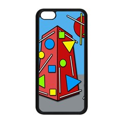 Crazy Building Apple Iphone 5c Seamless Case (black) by Valentinaart