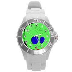 Alien By Moma Round Plastic Sport Watch (l)