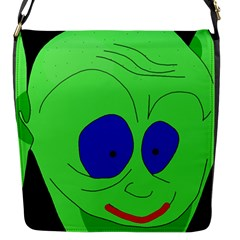 Alien By Moma Flap Messenger Bag (s) by Valentinaart