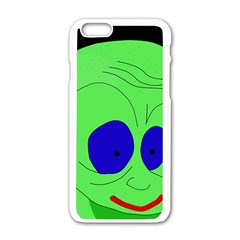 Alien By Moma Apple Iphone 6/6s White Enamel Case by Valentinaart