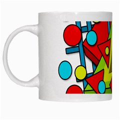Crazy Geometric Art White Mugs by Valentinaart