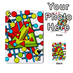 Crazy Geometric Art Playing Cards 54 Designs  by Valentinaart