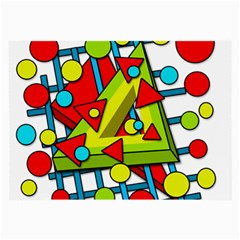 Crazy Geometric Art Large Glasses Cloth by Valentinaart