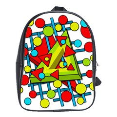 Crazy Geometric Art School Bags(large)  by Valentinaart