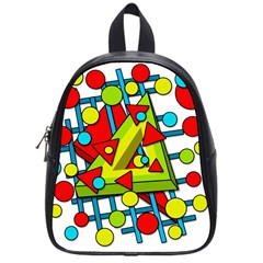 Crazy Geometric Art School Bags (small)  by Valentinaart
