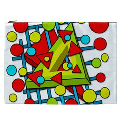 Crazy Geometric Art Cosmetic Bag (xxl)  by Valentinaart