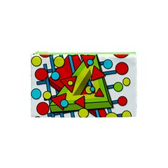 Crazy Geometric Art Cosmetic Bag (xs) by Valentinaart