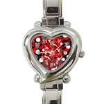Red mess Heart Italian Charm Watch Front