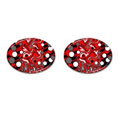 Red Mess Cufflinks (oval) by Valentinaart