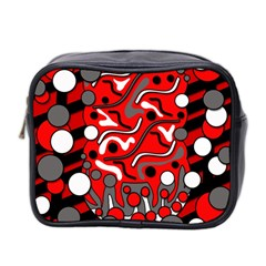 Red Mess Mini Toiletries Bag 2 Side by Valentinaart