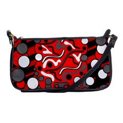 Red Mess Shoulder Clutch Bags by Valentinaart