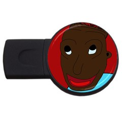 Happy Boy Usb Flash Drive Round (4 Gb)  by Valentinaart
