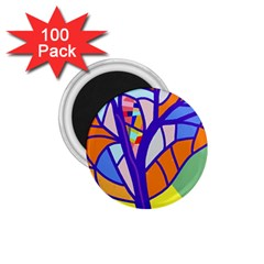 Decorative Tree 4 1 75  Magnets (100 Pack)