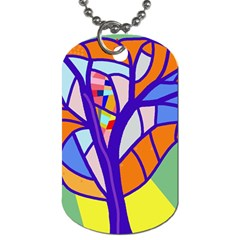 Decorative Tree 4 Dog Tag (two Sides) by Valentinaart