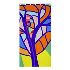 Decorative Tree 4 Shower Curtain 36  X 72  (stall)  by Valentinaart