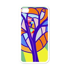 Decorative Tree 4 Apple Iphone 4 Case (white) by Valentinaart