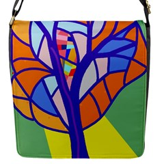 Decorative Tree 4 Flap Messenger Bag (s) by Valentinaart
