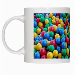 Funny Colorful Red Yellow Green Blue Kids Play Balls White Mugs by yoursparklingshop