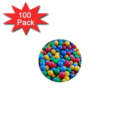 Funny Colorful Red Yellow Green Blue Kids Play Balls 1  Mini Magnets (100 Pack)  by yoursparklingshop