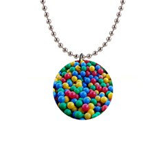 Funny Colorful Red Yellow Green Blue Kids Play Balls Button Necklaces by yoursparklingshop