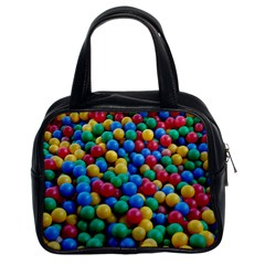 Funny Colorful Red Yellow Green Blue Kids Play Balls Classic Handbags (2 Sides) by yoursparklingshop