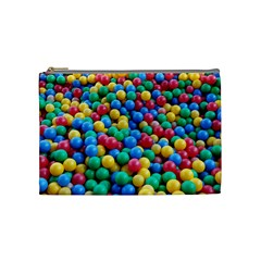 Funny Colorful Red Yellow Green Blue Kids Play Balls Cosmetic Bag (medium)  by yoursparklingshop