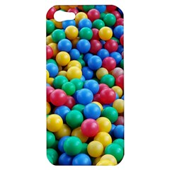 Funny Colorful Red Yellow Green Blue Kids Play Balls Apple Iphone 5 Hardshell Case by yoursparklingshop