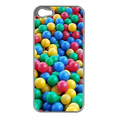 Funny Colorful Red Yellow Green Blue Kids Play Balls Apple Iphone 5 Case (silver) by yoursparklingshop