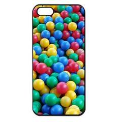 Funny Colorful Red Yellow Green Blue Kids Play Balls Apple Iphone 5 Seamless Case (black) by yoursparklingshop