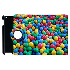 Funny Colorful Red Yellow Green Blue Kids Play Balls Apple Ipad 2 Flip 360 Case by yoursparklingshop